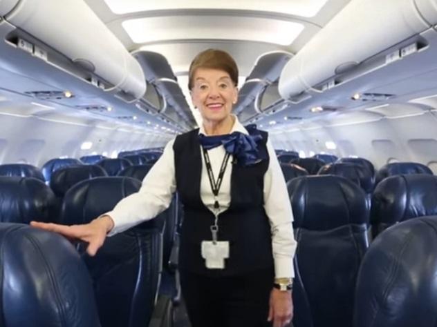 60 лет внебе: вСША отыскали самую старую стюардессу вмире