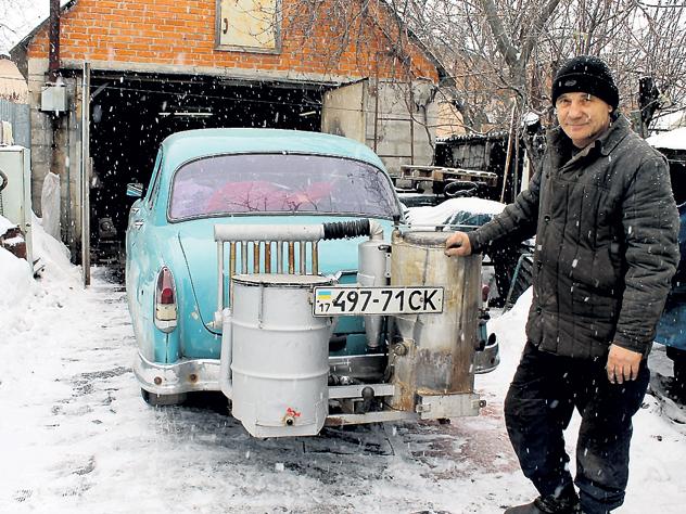 Полтавчанин перевёл свой автомобиль с бензина на дрова