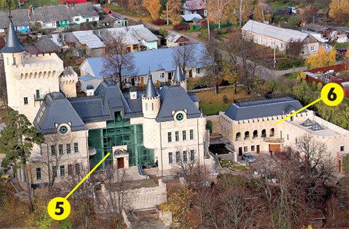 Хозяйственная пристройка замка (справа) очень похожа на имение ТОЛСТЫХ, которое стояло на этом месте более века назад