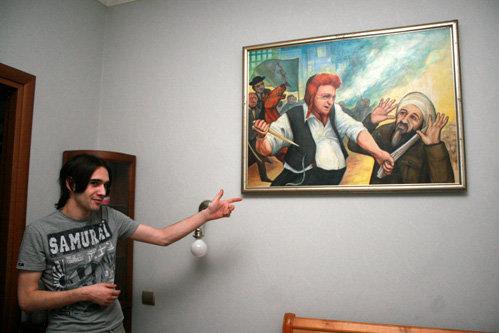 Эта картина висела в кафе ТРАХТЕНБЕРГА - сейчас в кварире сына