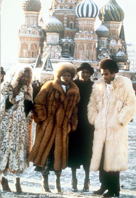 Бони М на Красной площади во время своего визита в Россию в 1981 году