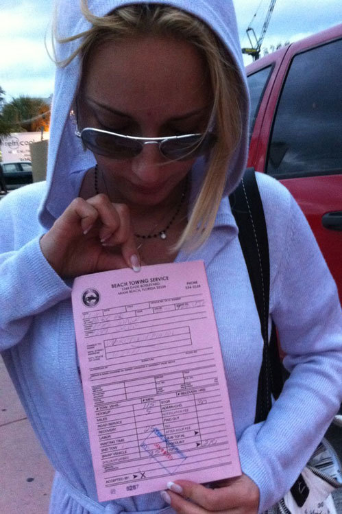 За парковку в неположенном месте КУДРЯВЦЕВА выложила $210 штрафа