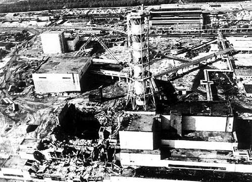 ЧАЭС после взрыва реактора (1986 г.)