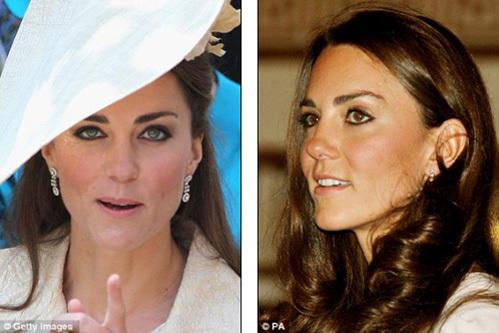 Британским дизайнерам и визажистам не нравится, как Кейт подводит глаза (фото Daily Mail)