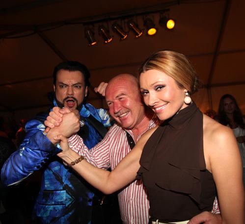 Филипп КИРКОРОВ, Анжелика АГУРБАШ с мужем Николаем