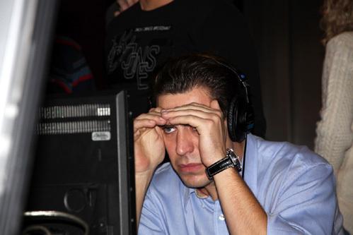 На съёмках Дмитрий был максимально сосредоточен