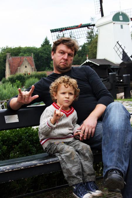 С сыном Стёпой