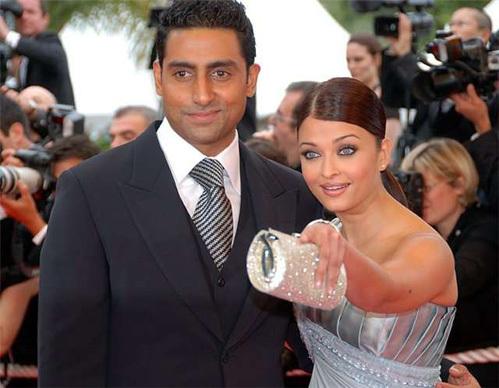 Айшвария Рай с мужем Абхишеком Бхачаном