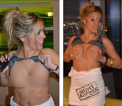 Сексапильная блондинка Сара ЛИЛ разбила брак Эштона и Деми. Фото: Daily Mail.