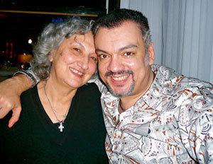 Филипп со своей тётей Мари