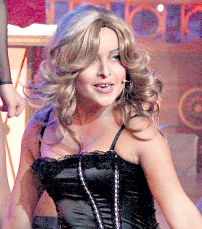 ХУСАИНОВА в образе Мадонны