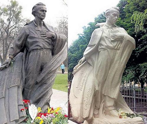 Памятники Тарасу ШЕВЧЕНКО и Василию СИМОНЕНКО: неужели все украинские поэты на одно лицо?!