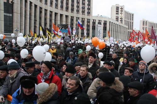 Митинг на проспекте Сахарова (фото Анатолия БЕЛЯСОВА)