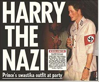 В памяти британцев еще свеж скандал, когда Гарри появился на публике в фашисткой форме. Фото: Sun