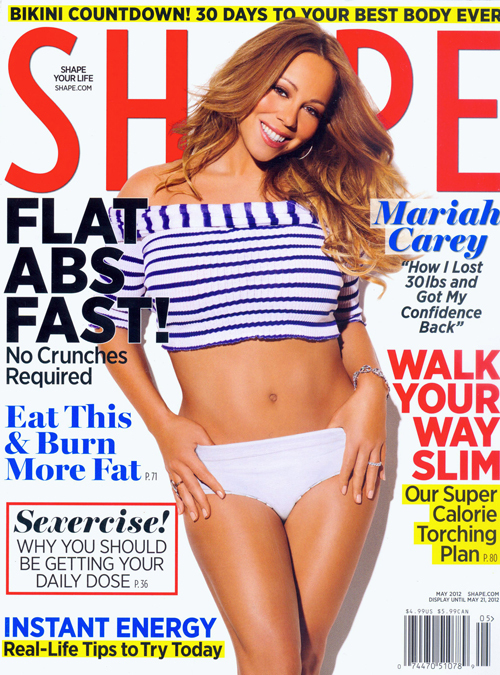 Мэрайя Кэри снялась для обложки журнала Shape.