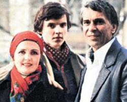 Ада Роговцева с сыном и мужем. Фото kino-teatr-ru
