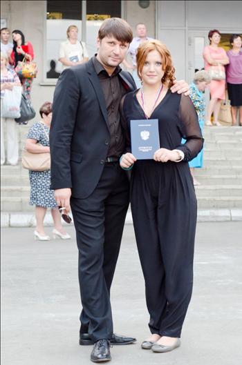 Виктор ЛОГИНОВ с дочерью Аней на выпускном