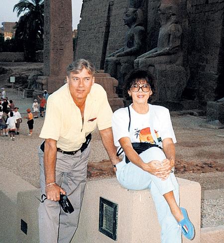 Ядвига с Борисом ЩЕРБАКОВЫМ в Египте