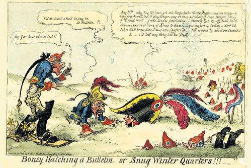 Английская карикатура ХIХ века. Британцы тоже намекали на роль «генерала Мороза»