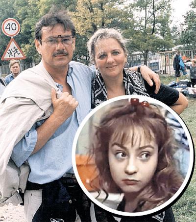 По словам СПЕСИВЦЕВА, первой любовью Жени ДОБРОВОЛЬСКОЙ (в круге) стал Павел ЧУХРАЙ (на фото кинорежиссёр с супругой - кинодраматургом Марией ЗВЕРЕВОЙ)