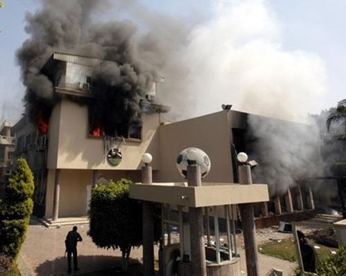 Египетские фанаты сожгли два представительства власти. Фото: «ИТАР-ТАСС»