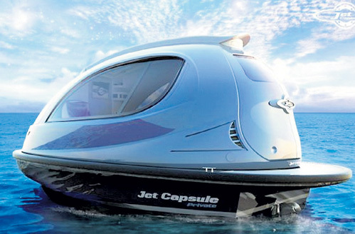 Яхта «Jet Capsule» на 70 процентов сделана из карбона