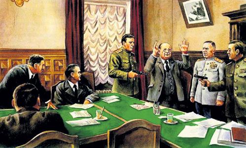 «Арест Лаврентия БЕРИЯ на заседании Политбюро ЦК КПСС» (современный рисунок)