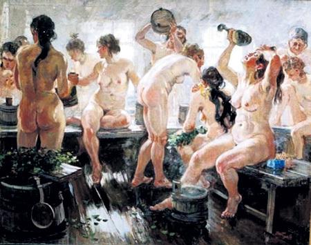 Глядя на картину Александра ГЕРАСИМОВА «Баня», понимаешь: там нет некрасивых женщин