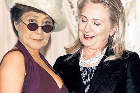 Йоко и Хиллари: старая любовь не ржавеет