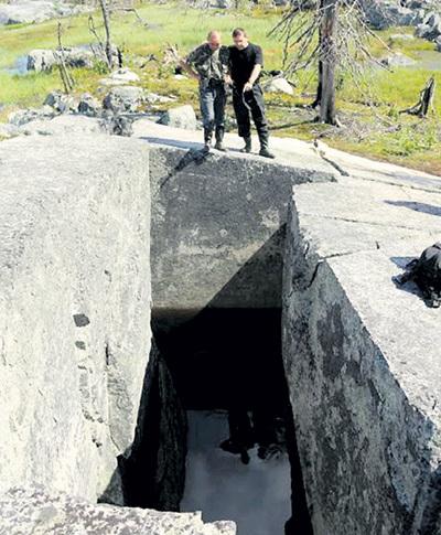Бассейн в Карелии: безупречно ровные стены, безукоризненно подогнанные камни