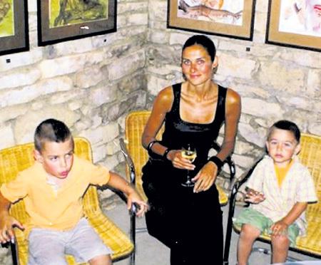 Старшая дочка нашего героя Анна с сыновьями Франком и Фердинандом