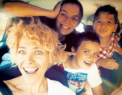 Екатерина с дочками Лерой и Сашей и сыном Богданом. Фото: Instagram.com
