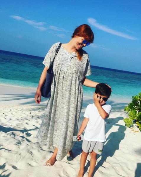Анастасия СТОЦКАЯ с сыном Сашей (Фото: instagram.com)