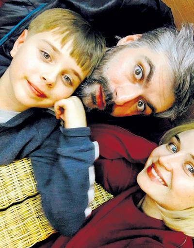 ГАГАРИНА с теперешним мужем Дмитрием ИСХАКОВЫМ и сыном Андреем. Фото: Instagram.com