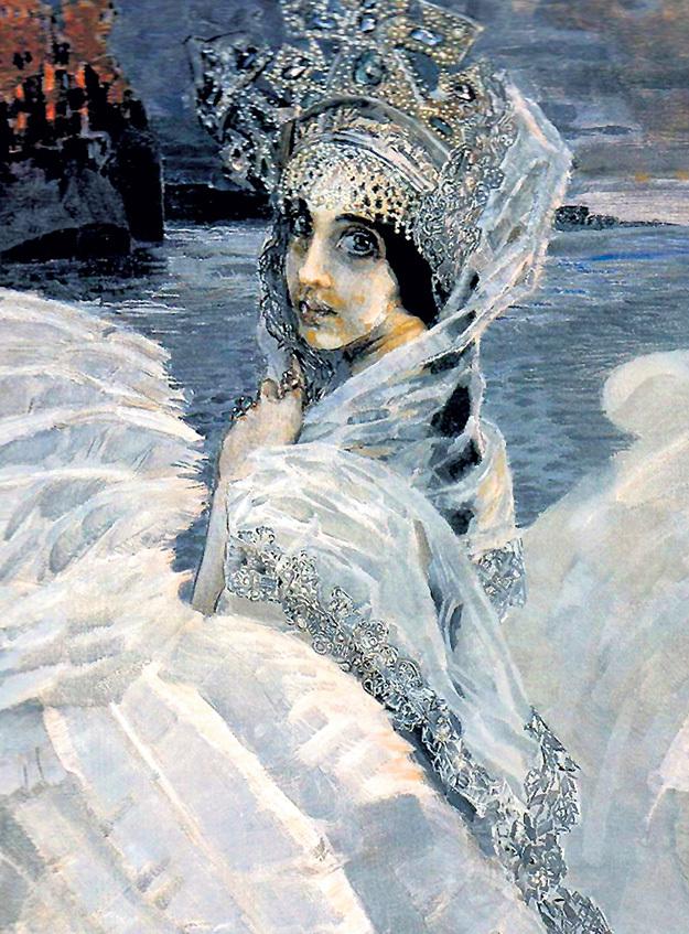 Художник часто изображал на картинах любимую Наденьку. «Царевна-лебедь» (1900) - один из таких образов