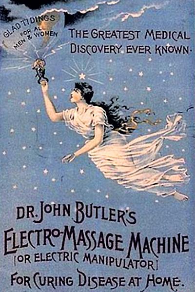 В начале ХХ века вибраторы продавали как электромассажёры...