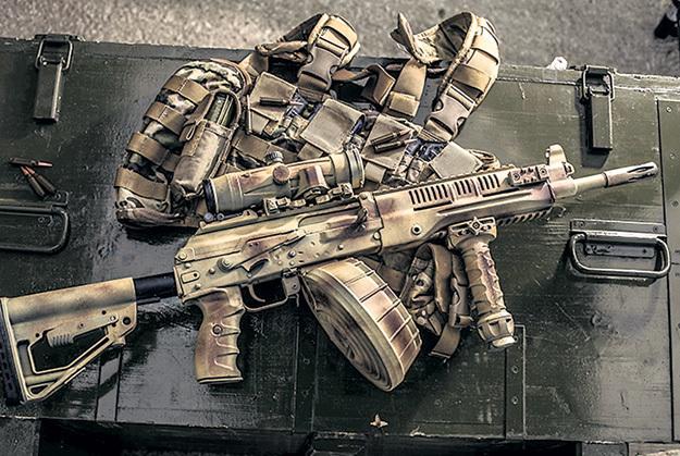 Грозная новинка: пулемёт со сменным стволом, в диске -  96 патронов. Фото с сайта Kalashnikov.com