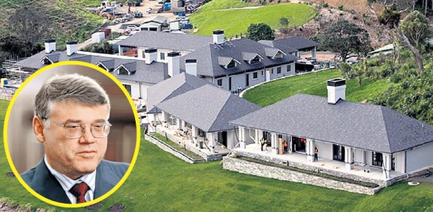 Самым большим частным домом в Новой Зеландии владеет председатель совета директоров Evraz Group Александр АБРАМОВ