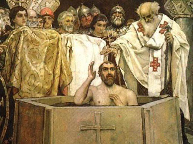 Крещение князя Владимира Красно Солнышко. Источник: noteru.com