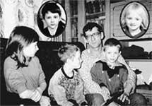 БОЛЬШАЯ СЕМЬЯ: всю вместе не соберешь! (Слева направо - Таня, Леша, Николай, Паша, вверху - Женя и Юля)