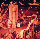 ФРАГМЕНТ КАРТИНЫ ЙЕРОНИМА БОСХА: так в XVI веке представляли Ад