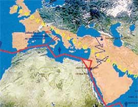 КАРТА ЗАТОПЛЕННЫХ ТЕРРИТОРИЙ: пострадала только Европа и немножко Азия