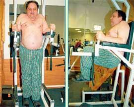 ПОДЪЕМ НОГ: работают нижние и средние мышцы