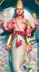БОГ-РЫБА В ИНДИИ: считается учеником Будды