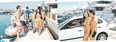 ТРИУМФАЛЬНОЕ ШЕСТВИЕ: в Барселоне русские останавливали на &#034скаку&#034 и яхты, и авто
