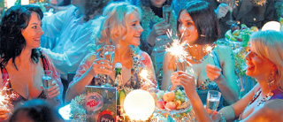 НОВОГОДНЕЕ ТЕЛЕШОУ: в праздничную ночь телезрителей канала «Рен-ТВ» «Блестящие» порадуют песней «Пальмы парами» в юмористической обратботке