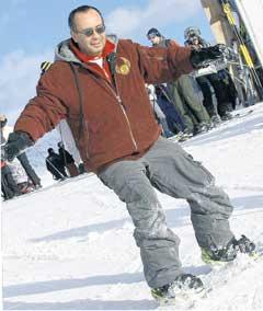 ПЁТР ЛИСТЕРМАН: стоял на сноуборде, как приклеенный