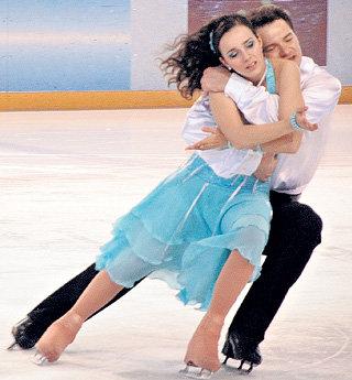 С Алексеем ТИХОНОВЫМ в сериале «Жаркий лёд»