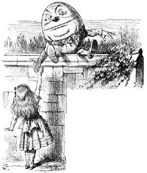 Шалтай в иллюстрации к книге про Алису