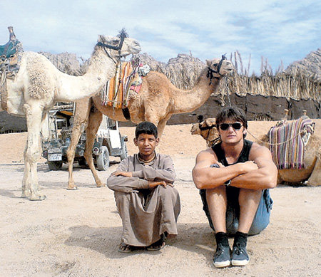 На съёмках сериала «Последнее путешествие Синдбада» в Египте